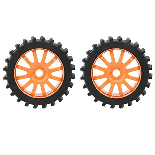 jadenzhou RC Wheel, RC Car Tires Potente Amortiguador para Jugadores para Aficionados(Umbrella Orange)