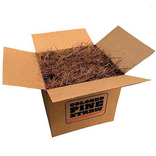 Longleaf Pine Straw Loose in Box for Landscaping - Non-Colored - Covers Up to 100 Square Feet