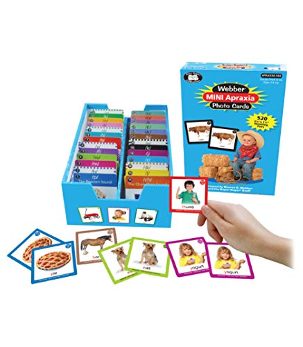 Super Duper Publications | Webber Mini Apraxia Photo Flash Cards | Activities for Children | Speech Therapy | Target Sound Practice | Consonant and Vowel Sounds | Games | Resource
