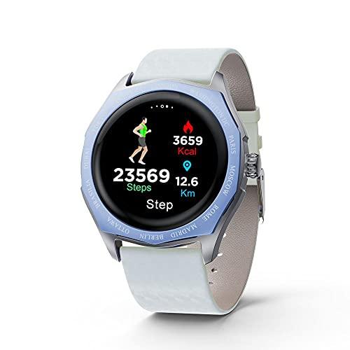 Yumanluo Smartwatch Impermeable,Reloj de los Pares de Las Mujeres, Pulsera-C de la Moda de la presión Arterial del Ritmo cardíaco del Paso,Monitores de Actividad,Fitness Tracker