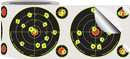 Splatterburst Targets - Roll of (200) 4 Inch Stick & Splatter Reactive Self Adhesive Shooting Target Stickers - Gun - Rifle - Pistol - Airsoft - BB Gun - Pellet Gun - Air Rifle