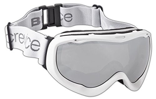 Black Embout Crevice Adultes Masque de Ski Taille Unique Blanc - Blanc/argenté