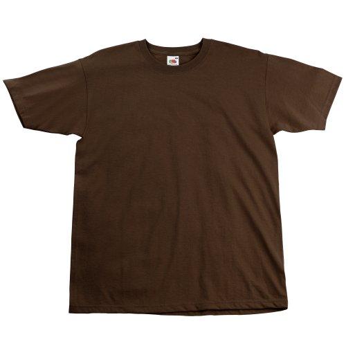 avis marque de chocolat du monde professionnel T-shirt à manches courtes pour hommes Fruit of the Loom (L) (Chocolat)
