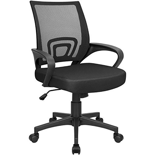 Homall Office Mid Back Computer Ergonomic Desk Chair (Black)