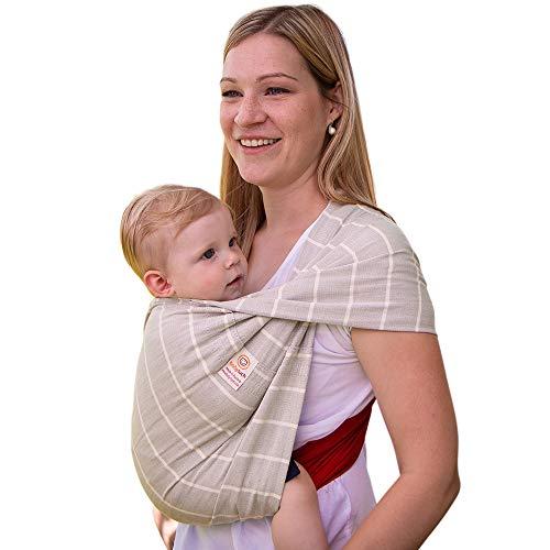 Babytuch - das Tragetuch ohne Knoten * kein Wickeln, kein BInden, kein Knoten * einfach Reinschlüpfen und Kind reinsetzen * ÖkoTex Standard 100 zertifziert * Made in Austria (6, Nadelstreif)