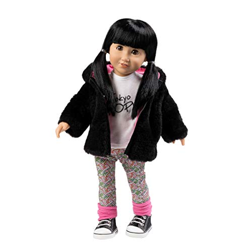 """Adora Amazing Girls Doll """"Zoe"""" Soft Body Vinyl Fashion Play Toy with Open/Close Eyes, 18-inch (Ages 6+)"""