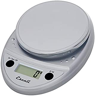 Escali Primo P115C Precision Kitchen Food Scale for Baking and Cooking, Lightweight and Durable Design, LCD Digital Display, 8