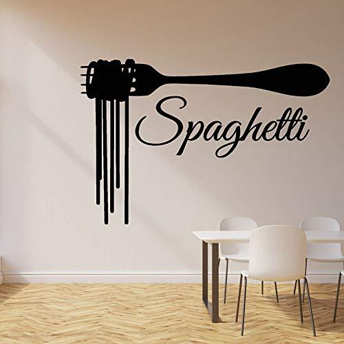 Calcomanía de vinilo para pared, pasta de espagueti, restaurante italiano, decoración, ventana, pegatina de vidrio, arte, mural, calcomanía artística, decoración del hogar