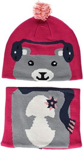 Columbia Conjunto de gorro y braga de cuello para niños, Snow More Beanie and Gaiter Set Toddler, Acrílico, Rosa (Cactus Pink Bear), Talla única, 1811541