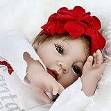 CHAREX Realistic Reborn Baby Dolls, 22 Inch Vinyl Silicone Newborn Baby Dolls, Lifelike Handmade Mohair Reborn Babies Girls Toy Gift for Age 3+