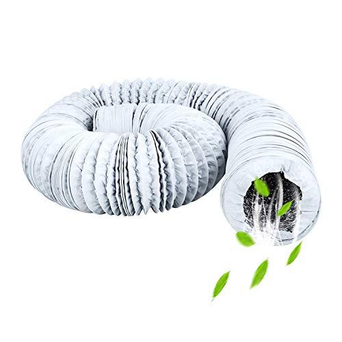 HG Power Tuyau d'évacuation d'air flexible en PET et PVC 150 mm avec isolation en aluminium de qualité professionnelle Long: 5m/16ft & Diamètre: 75mm/3 pouces Tuyau en Pvc Blanc