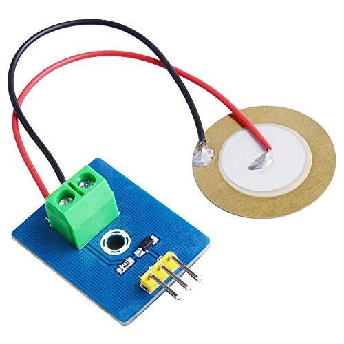 Ywzhushengmaoyi 52Pi Vibration Sensor Module Ceramic Piezo Analog Signal for Raspberry Pi/MCU STM32 / ESP32 (12Pcs) Electronics Module Parts