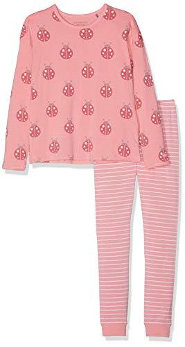 Bellybutton Kids Mädchen 2tlg. T-Shirt 1/1 Arm, Lange Hose Zweiteiliger Schlafanzug, Pink (Geranium Pink|Rose 2390), 128