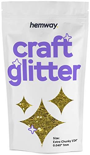 Hemway Craft Glitter 100g 3,5 Unzen Extra-Chunky 1/24