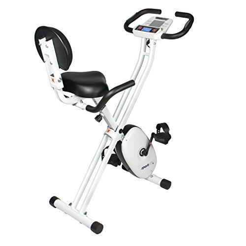 SportPlus SP-HT-1004-iE Bicicleta Estática Plegable con Control de Aplicaciones, Google Street View, Sillín Confortable, Manillar, 8-24 Niveles de Resistencia,...