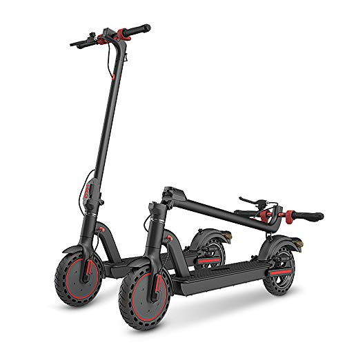 KKA Electric Scooter Adult, 8.5' Solid Tires, Up to 22 Miles Long-Range 15.6MPH, 350W Motor Portable Folding Commuter Electric Scooter, LED Display E-Scooter Bluetooth UL Certified for Commute &Travel