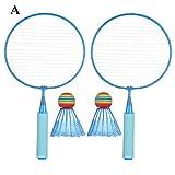 GJSC 1 Set artículo Ligero Niños Raqueta de bádminton Raqueta huttlecock niños de Juguete Juegos al Aire Libre Entretenimiento Accesorios (Color : 3)