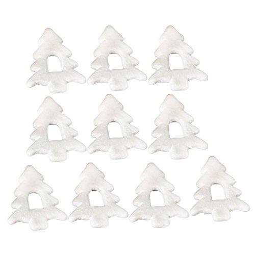 MagiDeal Juego de Ornamentos de Materiales Espuma de Poliestireno para DIY Artesanía de Navidad - 10pcs Árbol de Nabidad