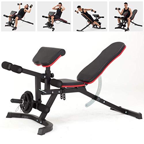 Einstellbare Fitness Bank 4 In 1 Multifunktions Faltbare Hantelbank Für Kurzhantel/Rückenübung, Home Gym Übungen dauerhaft/Schwarz/Rot