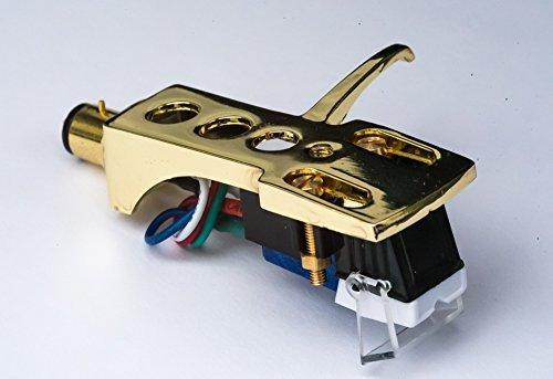 vergoldet Tonabnehmerkopf Montage mit mm Kartusche für Vestax tt1520, TT100, TTI, TT USB, TT1, TT2, ttx1, TTX USB, tt1600, TT1610, tt1910 Plattenspieler