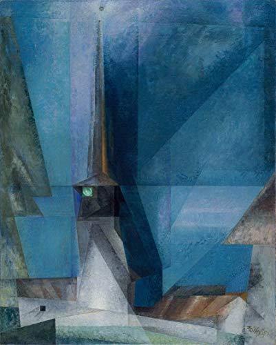 Berkin Arts Lyonel Feininger Giclee Auf Leinwand drucken-Berühmte Gemälde Kunst Poster-Reproduktion Wand Dekoration(Gelmeroda) Große größe 79.4 x 99.1cm