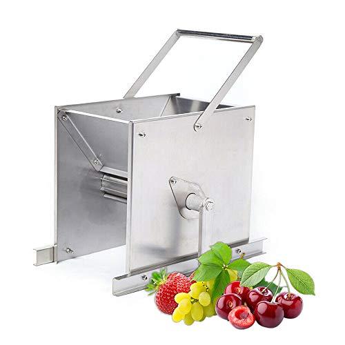 Grape Crusher, Stainless Steel Hand Crank Fruit Crushing Machine Manual Juicer Grinder Wine Making Tool for Strawberry, Cherry, Raspberry & Small Fruits Press