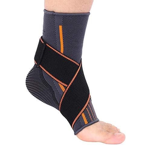 Ankle Support, 1 Stücke Sport Knöchelbandage Fußhülse Fußkompression Wraps Fußgelenkbandage Damen Herren für Basketball Fußballtraining Volleyball (S)