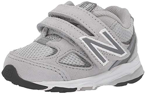 New Balance Boys' 888v2 Hook and Loop Running Shoe, Grey/Grey, 9.5 W US Toddler