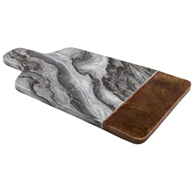 Thirstystone Marble Serving Board with Sheesham Wood, Black