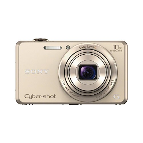 Sony DSC-WX220 Digitalkamera (18 Megapixel, 10-fach opt. Zoom, 6,8 cm (2,7 Zoll) LCD-Display, NFC, WiFi) gold