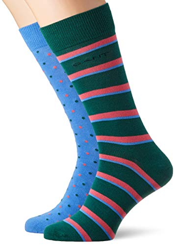 Gant D1. Dot and Stripe Sock Giftbox, Calcetines para Hombre, Azul (Pacific Blue 445), Talla única