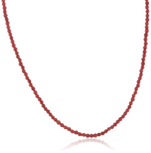 Engelsrufer Bambuskoralle Kette für Damen rhodiniertes 925er-Sterlingsilber Länge 80 cm