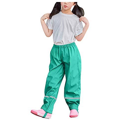 YINGXIONG Kinder Regenhose,Wind-und wasserdichte Buddelhose Atmungsaktiv Matschhose,Outdoor Latzhose Rain Pants für Jungen Mädchen