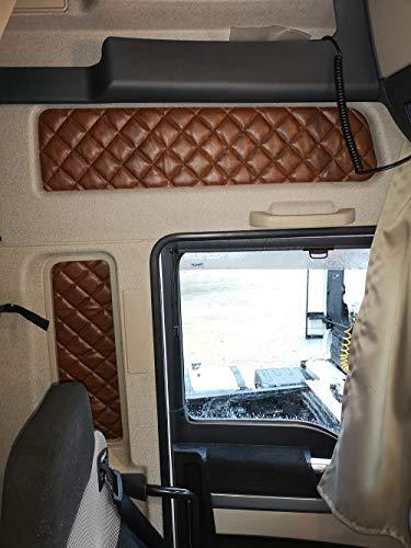 KRAM-TRUCK Abdeckungen, Fenstervorhänge, hohe Kabine, Man TGX, 4 Stück Hellbraun
