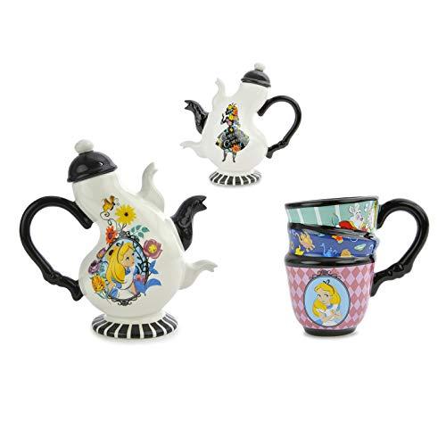 Disney Alice in Wonderland Ceramic Tea Set, 17 oz Teapot with Lid + Tea Cup