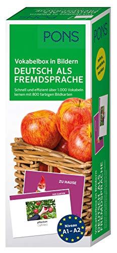 PONS Vokabelbox in Bildern Deutsch als Fremdsprache: Schnell und effizient über 1.000 Vokabeln lernen mit 800 farbigen Bildkarten