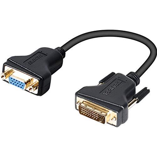 Adaptador DVI-I a VGA, Benfei DVI 24+5 a VGA macho a hembra...