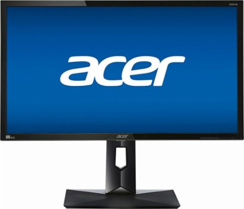 Acer CB281HK BMJDPR 28 inch 4K Ultra HD 3840 X 2160 FreeSync Monitor, 1ms Response time, 100,000,000:1 Dynamic Contrast Ratio, HDMI, DisplayPort (28-inch 4K Ultra HD 3840 X 2160)