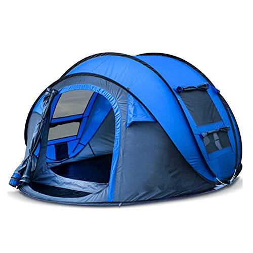 HSART Pop Up Tent, 2-3 Person Camping Tents 3 Second Instant Setup Tent, 4 Ventilated Mesh Windows 2 Mesh Doors Tent, Waterproof Tent