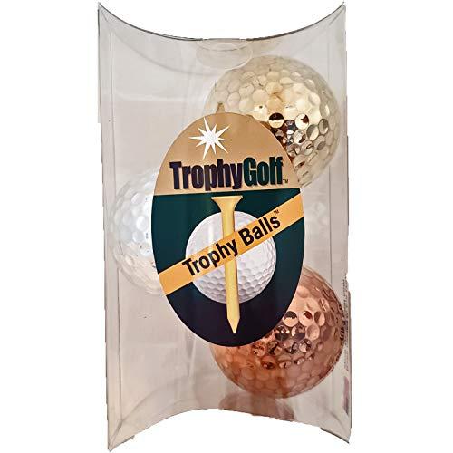 Trophygolf 3 Olympische Golfbälle, Gold/Silber/Bronze