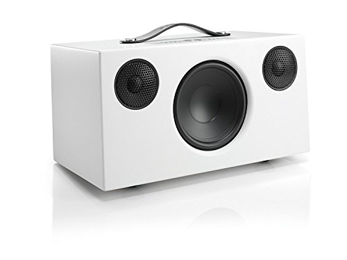 Tragbarer Multiroom Lautsprecher, Kabellos, Multiroom, Stereo, WiFi, Bluetooth Speaker, WLAN, Apple Air Play, Spotify Connect, Addon C10, Boxen, Polarweiss