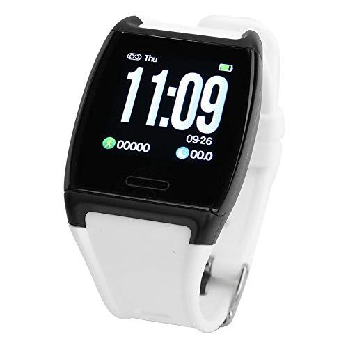 FTVOGUE Wasserdichtes Smart Armband Sportuhr Armbanduhr Herzfrequenz Blutdruck Schlafmonitor(V2 珍珠 珍珠)