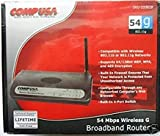 CompUSA 54Mbps Wireless Broadband Router 333628