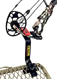 Bow Buddy Bow Hanger   Hang-On Buddy Treestand Bow Holder Removable with Rubber Grip Compound Bow Holder for Archery Hunting (Hi Profile)