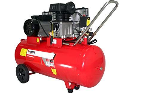 MADER 09360 Compresor de Aire con Correa, 100L, 3Hp, Monofásico
