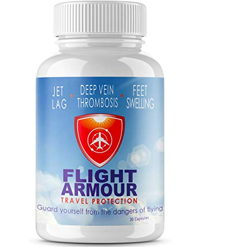 FLIGHT ARMOUR - Jet Lag Pills | Relief | Remedy | Natural Prevention Of Foot Swelling & Clotting-Restore Sleep and Energy, Avoid Jetlag Fatigue, Maximize Business & Vacation (Feel Like You Never Flew)
