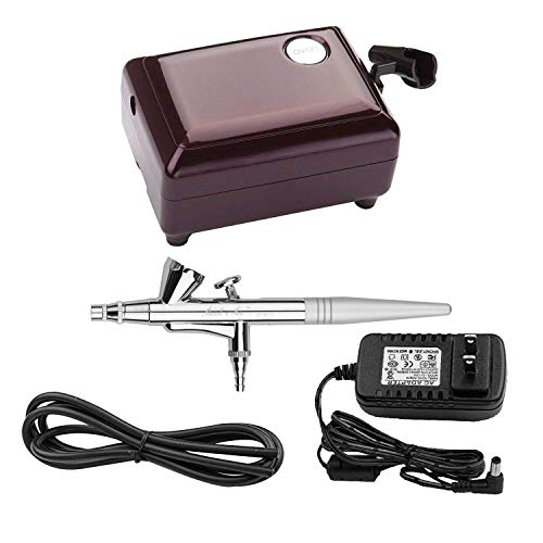 Airbrush Makeup Kit, Cosmetic Air Brush Gun with Compressor for Face Body Painting, Nail, Cake Decorating, Hobby, Model