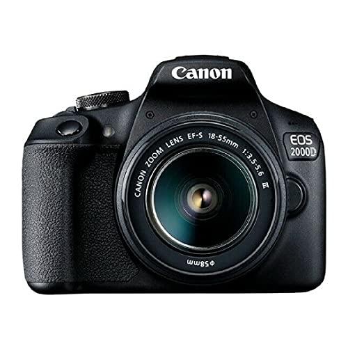 Câmera Digital EOS 2000D Canon EF-S 18-55 III Kit 24MP
