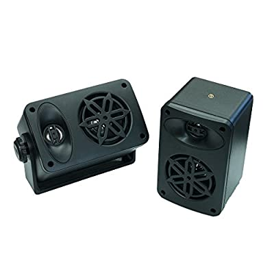 Bassface SPLBOX.4BK 200w Marine Boat Van Outdoor Box Speakers Pair Black by Bassface