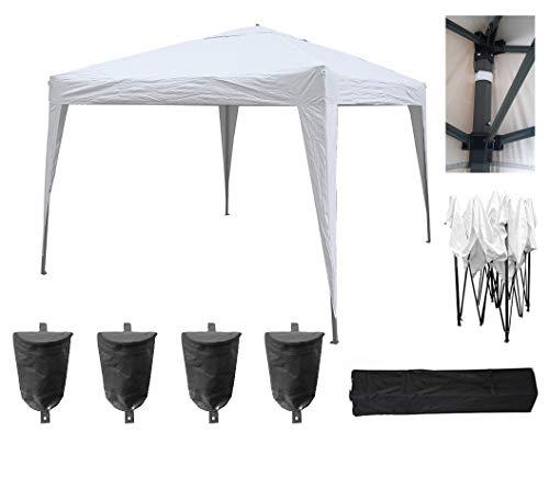 MCC 3x3m Pop-up Gazebo Waterproof Outdoor Garden Marquee Canopy NS (White)